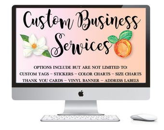 Custom Label Download - Personalized Thank You Tags - Custom Party Printables - Custom Stickers - Business Labels - Custom Address Labels