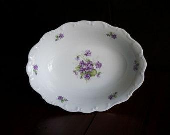 Bavaria Schumann Arzberg Germany Violette Oval Vegetable Bowl