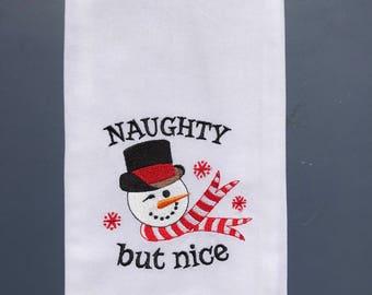 NAUGHTY but nice Tea Towel
