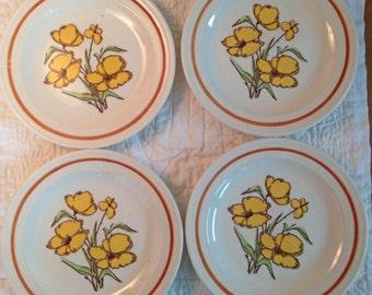 Retro Appetizer Plates - Set of 4