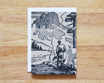 Vintage Campfire Greeting Card