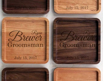 Personalized Valet Tray Groomsmen Gift Set 2-12, Wedding Gift for Wedding Party, Wedding Favors, Groomsman Gift idea, Groomsmen Gift Box