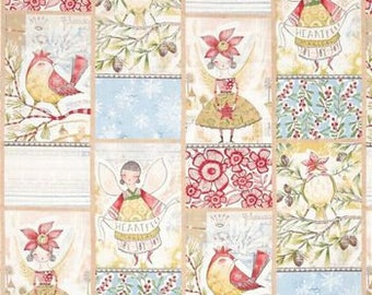 "32"" REMNANT - Merry Stitches by Cori Dantini for Blend Fabrics, Pattern #112.104.02.1 Little World of Wonder"