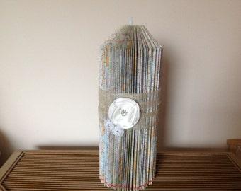 Book Fold Candle Sculpture Home Decor