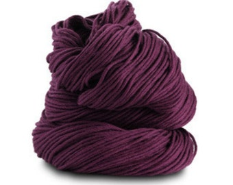 Organic Cotton Yarn 150 Yards, Blackberry