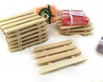 CRAZY LOW PRICE - 28 natural Poplar Wood Soap Dishes Just .75 cents each - limited quantities available