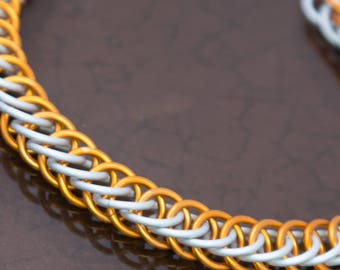 Team Colors Half Persian Chainmaille Bracelet