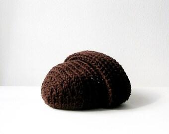 Brown Beanie Slouchy Beanie Hat for Man Unisex Chocolate Brown Beanie