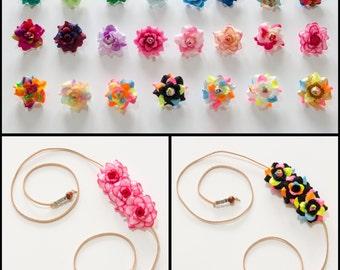 Customizable Rose Side Flower Crown, Flower Headband, Floral Crown, Floral Headband, Festival Headband, Hippie Headband, Rave Headband