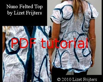 Nuno Felt PDF Tutorial - Pattern - Feltmaking Cotton Nuno Felted Top  Summer Jacket - Instant Download