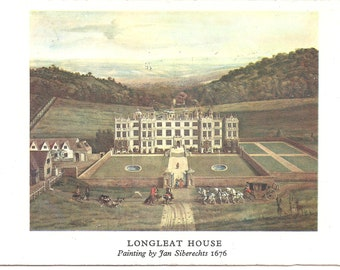 Longleat House bookmark, postcard and stamp combination