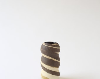 small ceramic marbled stoneware vase