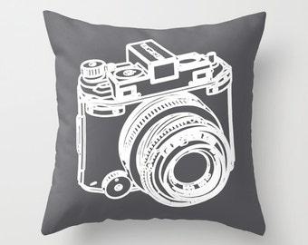 Camera Pillow  - Camera Cushion  - Camera Throw Pillow - Decorative Pillow - Modern Home Decor - By Aldari Home