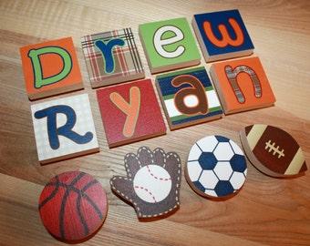 Lil MVP Sports Boys Name Magnets Fridge Bedroom Magnets NM0004