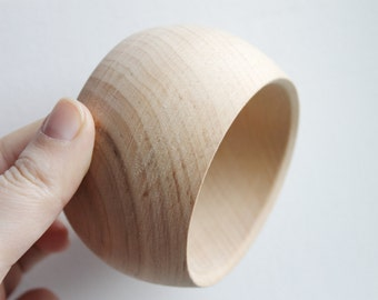 50 mm Wooden bracelet unfinished round - natural eco friendly GA50