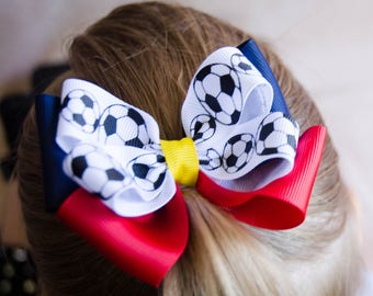 Real Salt Lake Inspired Game Day Bow