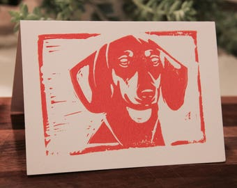"""Dachshund Print (""""Bella"""") - Card or Print, 5 x 7 inches; 1 for 5 dollars or 5 for 20"""