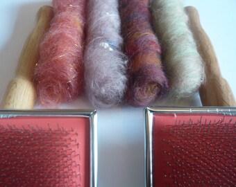 Cardadores de lana - mano Carders (par)