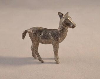"Mini Metal Deer Figurine – 2"" Tall"