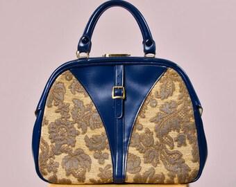 60s Murray Kruger Tapestry Handbag & Key