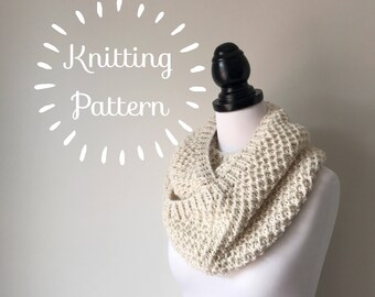 Knitting Pattern - The Moira Scarf - Circular Infinity Cowl - Instant PDF Download
