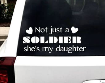 Military Decal - Military Car Decal - Army Car Decal - Navy Car Decal - Air Force Car Decal - Military Mom Decal - Marine Car Decal