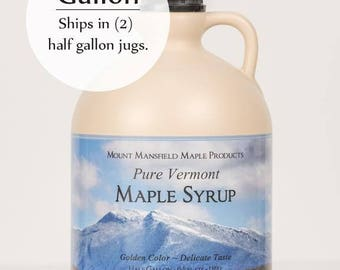 Mansfield Maple Gallon Pure Vermont Maple Syrup (Choice of Grade)