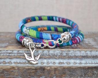 Sparrow Turquoise Boho Wrap Bracelet