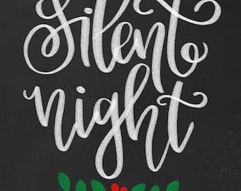 silent night printable
