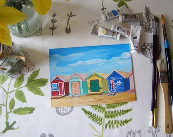 Original beach hut painting
