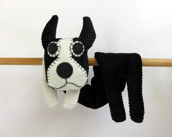 Flat Dog, Hot Cold Rice Bag, Microwave Neck Wrap, Rice Heating Pad, Hot Cold Therapy Pack, Black White Boston Terrier Dog