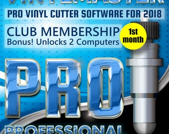 Vinyl Cutter Software Heat Press Sign Maker VinylMaster PRO Subscription (1st month) Unlock 2 PCs. Make Professional Signage