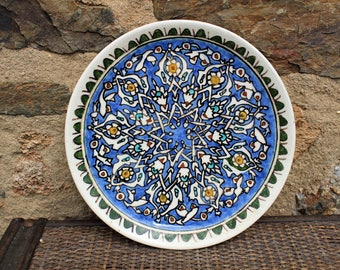 A Signed HANDMADE and Handpainted TURKISH PLATE from 1982.