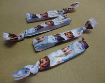 Frozen Elsa & Anna Hair Ties, Hair Knotties
