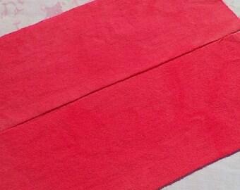À la main laine teints tissu - laine vermillon clair - tapis accrocher couture - applique de laine - d'artisanat - quilting - primitif - pastèque - 028