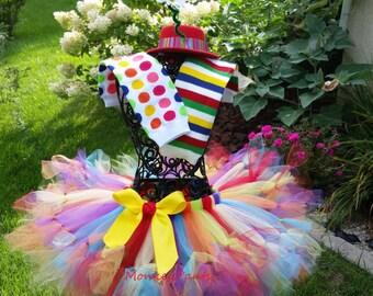 Halloween Costume Girl - Clown Petti Tutu Costume - Petti tutu, Leg warmers and Hat - Circus Birthday Party - Baby Girl Halloween Costume