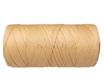 Waxed Polyester Cord - 1 spool - Macrame Cord - Jewelry Cord - Light Cream