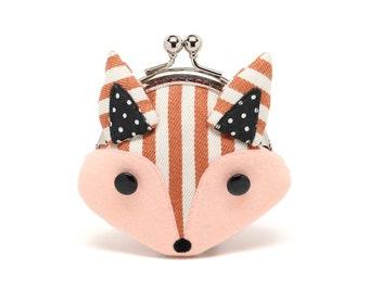 Kleine stripey Rotfuchs Mini Geldbörse