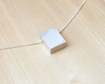 Aluminum Necklace Contemporary Necklace Minimalist Necklace Clarity Series II