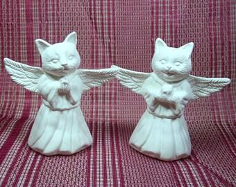 Cat Angels   Angel Cats   Unpainted Ceramics  Bisqueware    Animal Angels   Ceramic Bisque   Ceramics to Paint   Bisque Ware