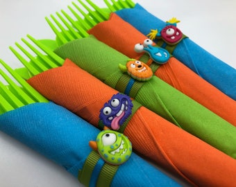 Monster Flatware - Monster Party Silverware, Monster Party Supplies, Monster Party Tableware