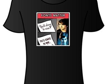 Font is important  t-shirt Freddie Highmore Norman Bates