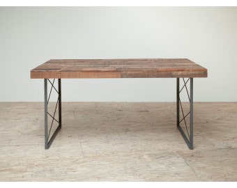 Stunning Reclaimed 'Appalacian' Patchwork Dining Table or Desk