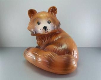 Vintage Rubber Dog Toy Soviet Squeak Toys Puppy Toy