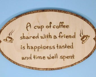 Coffee with a friend fridge magnet - coffee lovers gift, funny gift, coffee poem, funny coffee saying, friend gift