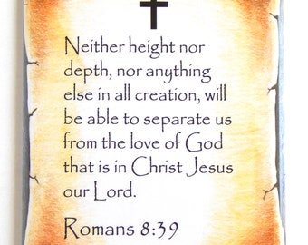 Romans 8:39 Bible Verse Fridge Magnet