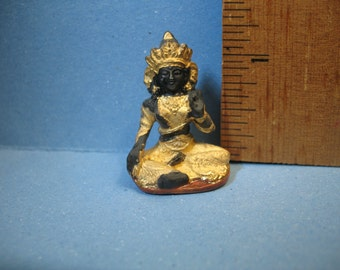 BUDDHA Indian Buddhism Zen Statue - French Feve Feves Figurines Miniatures