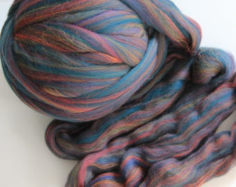 Roving - Merino Combed Top (Multi-Colored) - Denim   FREE Shipping within US