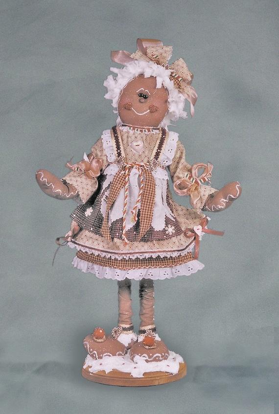 "Pattern: Gretchen - 20"" Gingerbread Girl"