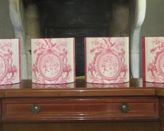 2 pairs of shade 20 cm Jouy pink with the angels